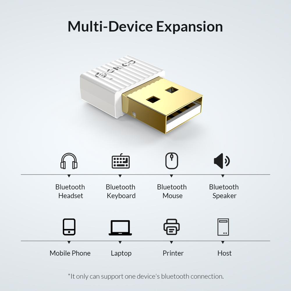 ORICO Wireless USB Bluetooth Dongle Adapter 5.0 4.0 for Computer Speaker Mouse Bluetooth Music Audio Receiver Transmitter 4
