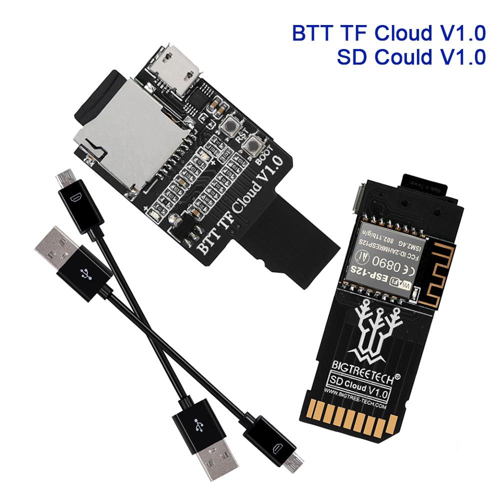 Модуль беспроводной передачи BIGTREETECH BTT SD Cloud TF Cloud V1.0 для материнской платы SKR MINI E3 SKR V1.4 TMC2208, деталь 3d-принтера