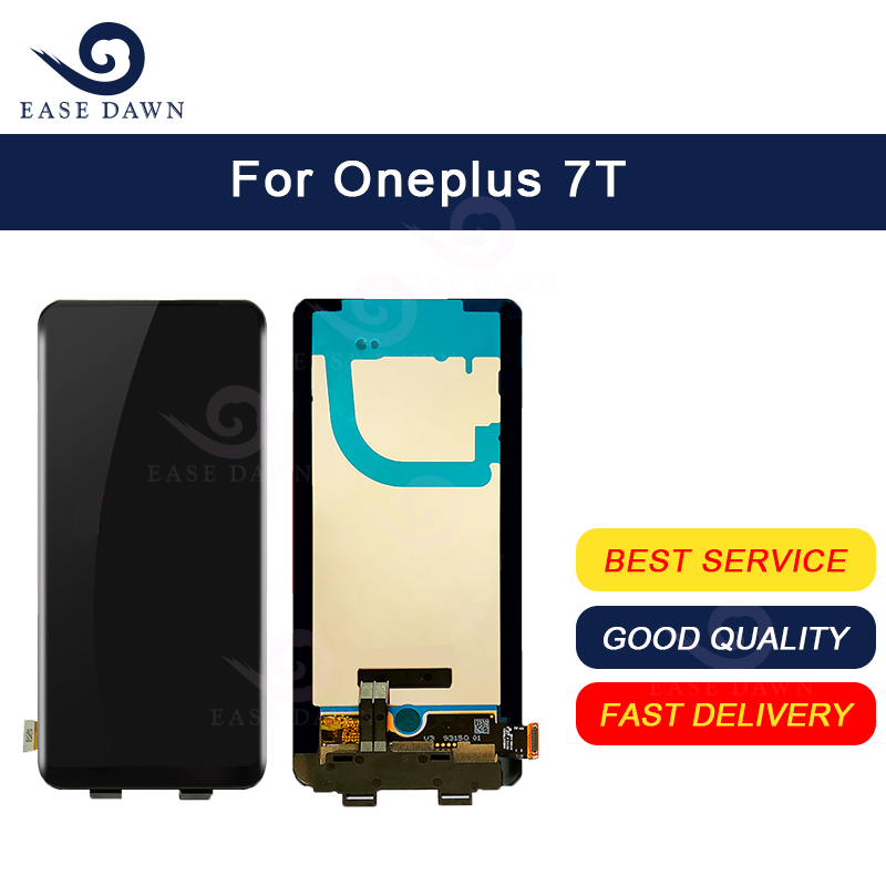 For Oneplus 7T LCD AMOLED LCD Display Screen+Touch Digitizer Assembly For Oneplus Display Original