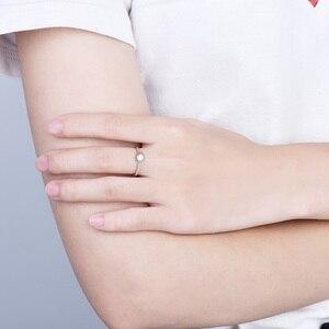 Image 5 - Loverjewelry 14Ktモアッサナイトリング女性ラウンドカット天然リアルダイヤモンドウェディング用ホワイトゴールド女性婚約ギフト
