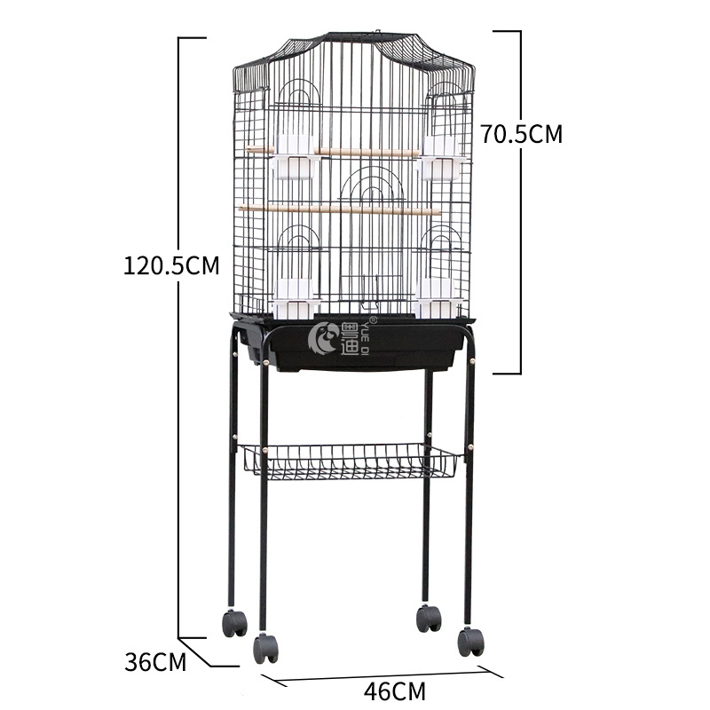 Luxury large bird cage decoration tiger skin parrot starling cage large metal cage frame chastity cage bird house pet supplies