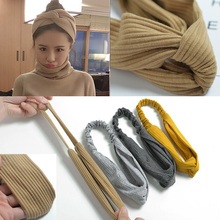 1 Pcs Womens Fashion 10 Colors Simple Sport Headband Girls Cloth Solid Color Hair Hoop Hairband Korean Style Accessories