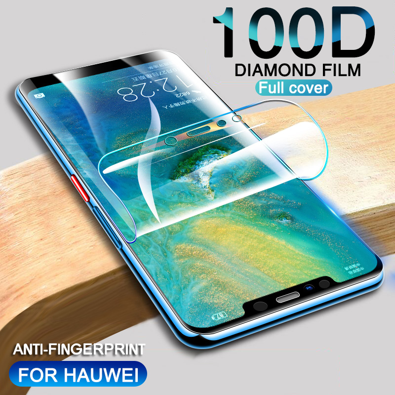 100D Screen Protector Hydrogel Film For Huawei P20 P30 Mate 20 Lite PRO Protective Film For Huawei P10 Plus Mate 20 10 Not Glass