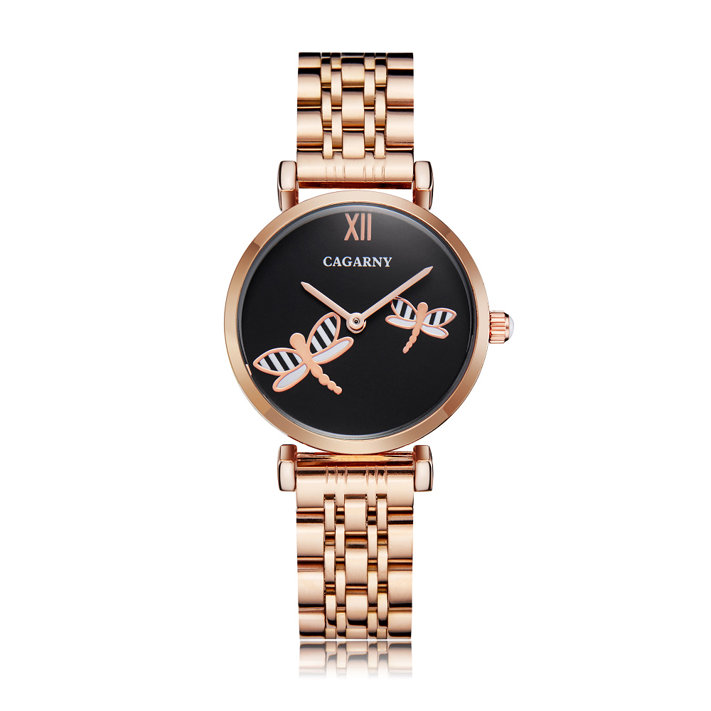 H35f828eda50e4527a8098aa18f4e1e56n Silver Rose Gold Stainless Steel Bracelet Watch For  Women