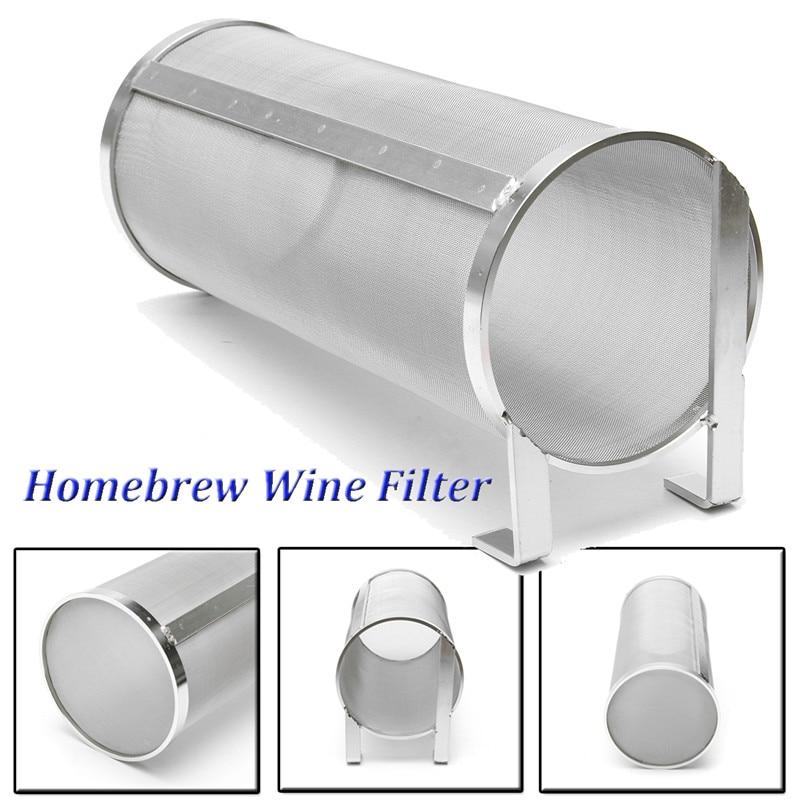 Stainless Steel Hop Spider Strainer Home Brew Beer Pellet Hop Filter Cartridge 100x255mm 400 Micron Filtering For Brew Kettle