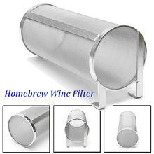 Filtro de aranha de aço inoxidável para produção caseira, cartucho de filtro de pellet hop, fermentação caseira, 100x255mm, filtering de 400 micron para chaleira de fermentação