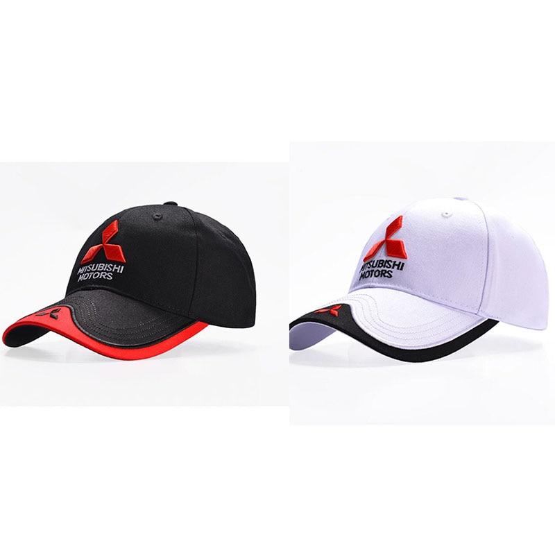 For Mercedes Benz 3D For Mitsubishi Hat Cap Car Logo MOTO GP Racing F1 Baseball Cap Hat Adjustable Casual Snapback Trucket Cap