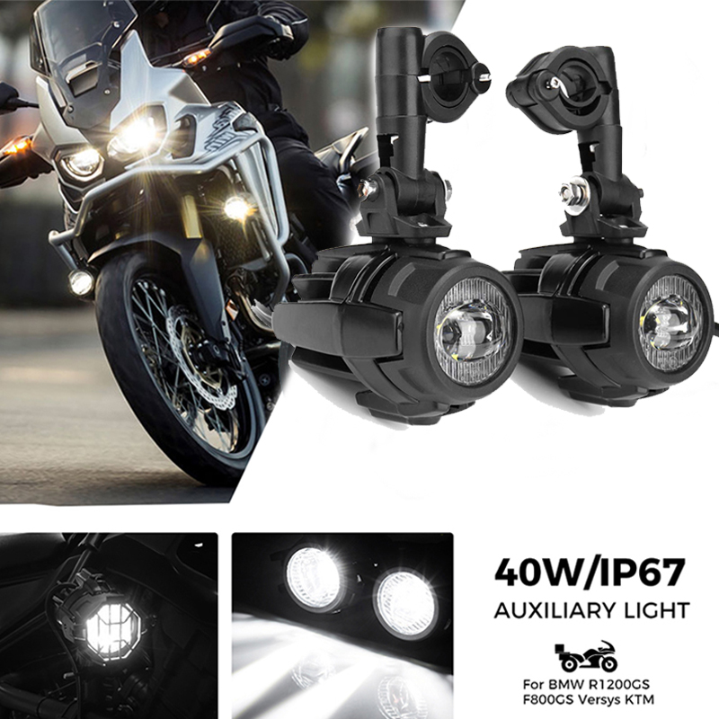 Motorcycle Fog Lights For BMW R1200GS ADV F800GS F700GS F650GS K1600 LED Auxiliary Fog Light Assemblie Driving Lamp 40W