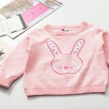 Весенний Универсальный Детский свитер для девочек, милый свитер с длинными рукавами, круглым вырезом и рисунком цветов ржавчины