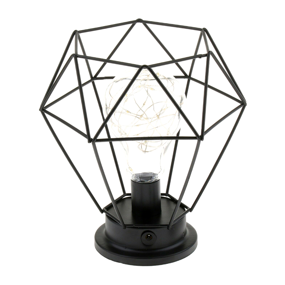 Decorative Nordic Night Lamp Table Light Vintage Wrought Iron Retro Home Bulbs Industrial Battery Powered Led Gift Bedroom Cage