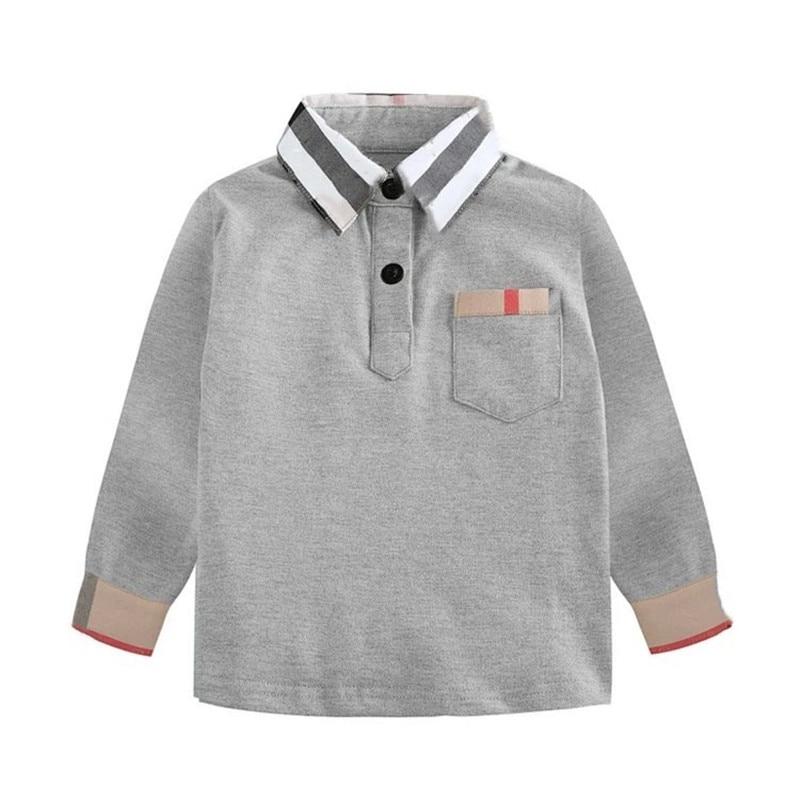 New Spring Boys Girls latticen Cotton T Shirts Children Tees Boy Girl Long Sleeve T Shirts Kids Tops Brand Baby Clothes 3-8Y 1