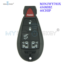 Remtekey M3N5WY783X Keyless entry remote key fob Fobik 5 button with panic for Dodge Grand Caravan 2008 2009 2010 2011 2012 2005 2011 ford five hundred 4 four button keyless entry remote free programming included