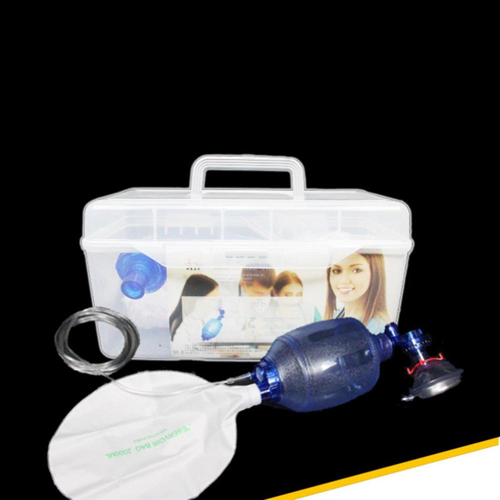 NEW Simple Respirator Artificial Resuscitator Medical Emergency Wake-up Ball Emergency Airbag Breathing Balloon