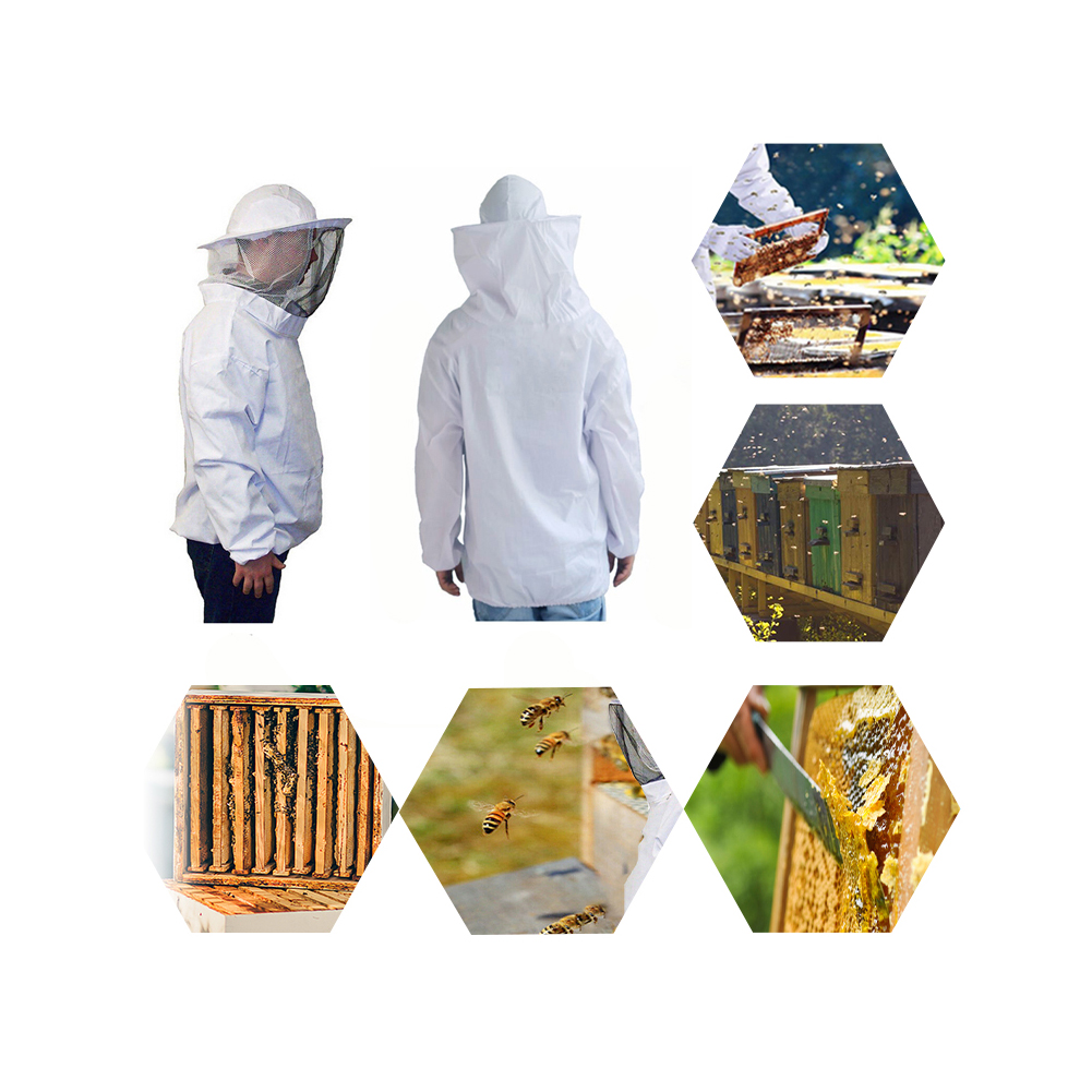 New Beekeeping Protective Jacket Veil Suit With Pull Hat Smock Equipment Convenient Practical Protect Body Garden Supplies Tool|Beekeeping Tools| |  - title=