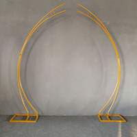 2pcs/set wedding arch iron frame road lead iron art wedding stage background door road lead moon arch birthday party supplies