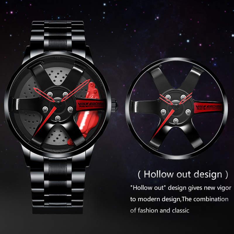 NIBOSI Wheel Rim Hub Watch Custom Design Sport Car Rim Watches Waterproof Creative Relogio Masculino 2020 Watch Man Wrist Watch 1