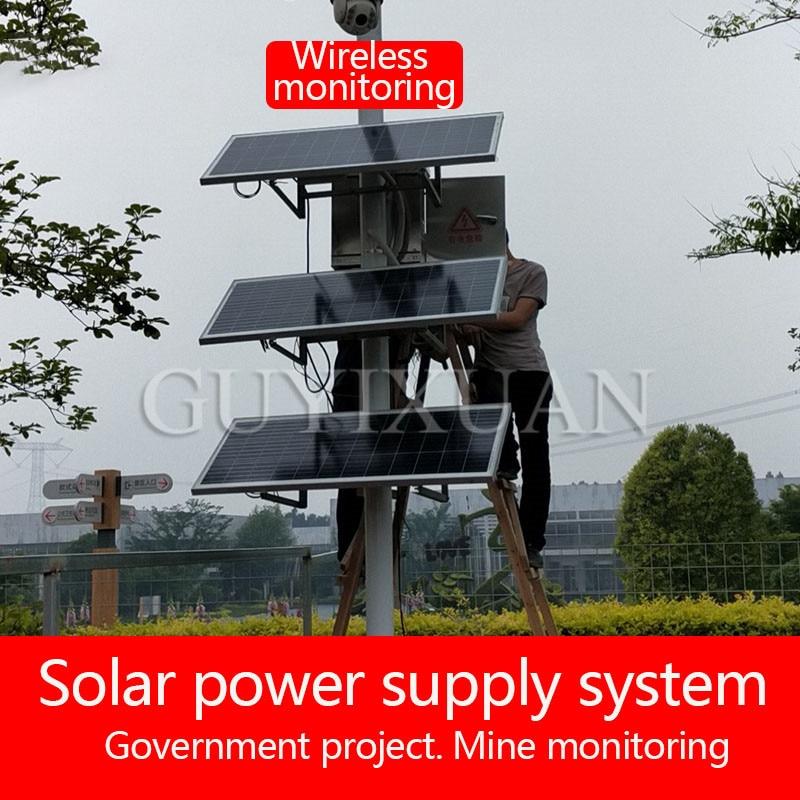 Открытый дождевой мост резервная солнечная система мониторинга питания монокристаллическая Кремниевая солнечная панель система питания