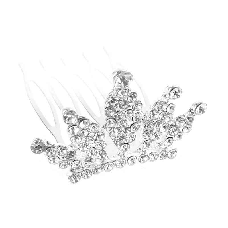 Trẻ Em Bé Gái Lấp Lánh Kim Cương Giả Thái Hairgrip Công Chúa Nơ Nhỏ Kẹp Tóc Mini Tiara Tóc Kẹp Nữ DỰ TIỆC CƯỚI Ủng Hộ