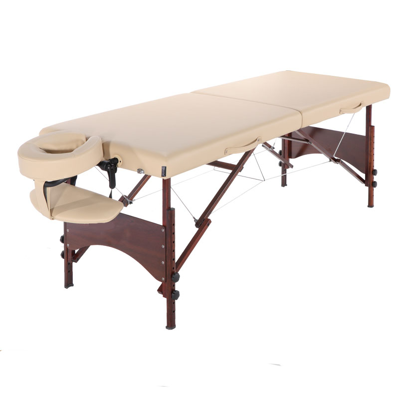 Beauty Bed Folding Portable Beauty Bed Household Beauty Massage Bed Solid Wood Massage Bed Massage Neck Shoulder Waist