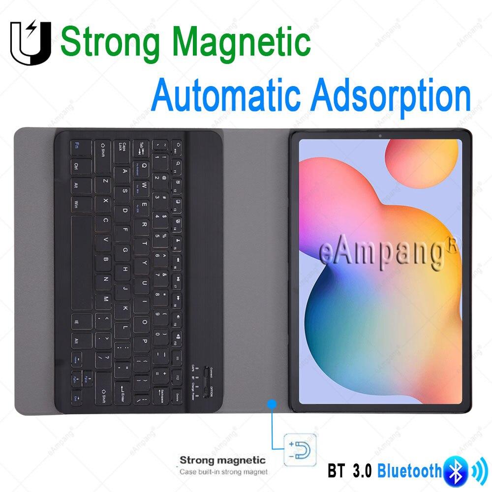 Чехол для Samsung Galaxy Tab S6 Lite 10,4, чехол для клавиатуры Tab S6 10,5, S7 11, чехол с русской, испанской, английской, корейской Bluetooth клавиатурой-3