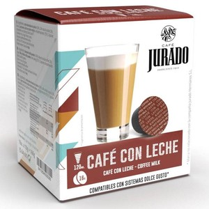 Cafe con leche, 16 capsules Cafe Jurado for Dolce Gusto