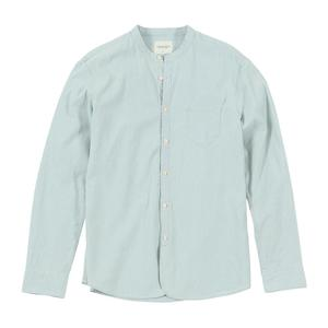 Image 5 - SIMWOOD standı yaka Dikey çizgili gömlek erkekler % 100% pamuk klasik denim slim fit minimalist rahat gömlek CS135