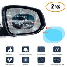 2 unids/set impermeable para coche accesorios coche espejo ventana película transparente membrana Anti niebla Anti reflejo impermeable pegatina conducción seguridad