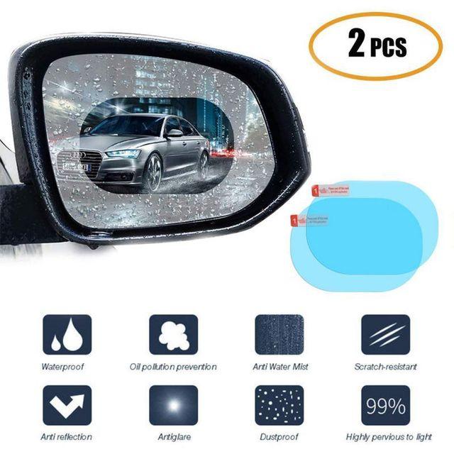 2 יח\סט אטים לגשם רכב אביזרי רכב מראה חלון ברור סרט קרום אנטי ערפל נגד בוהק עמיד למים מדבקת נהיגה בטיחות