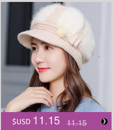 Simple girl Casual Cotton Acrylic Rushed New Fashion Female Winter wool Hats Hand Coarse Knitted Hat For Women Beanies 26