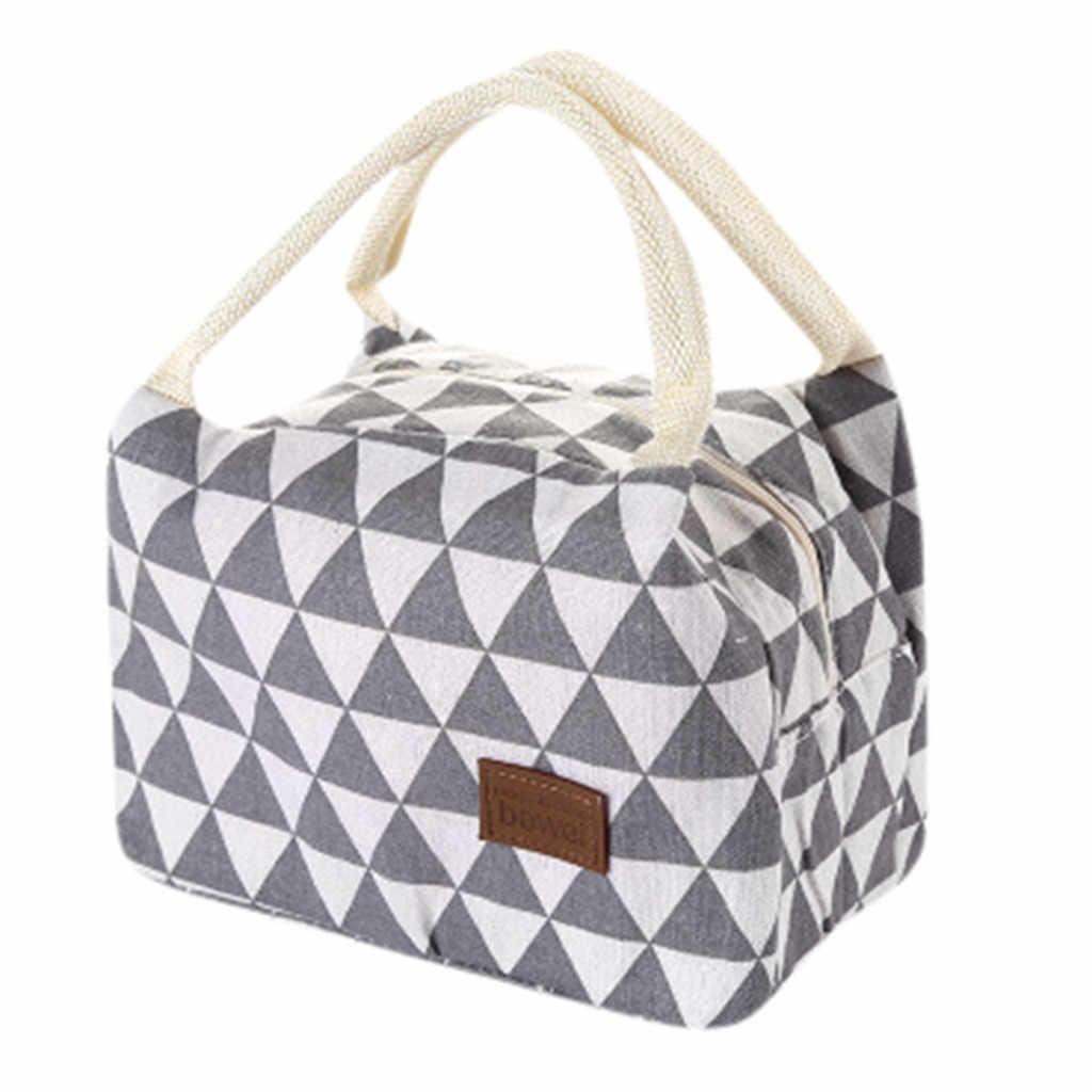 حقيبة الغداء المحمولة 2020 جديد الحرارية معزول علب الاغذية حقيبة يد للتبريد أثناء التسوق بينتو الحقيبة حاوية لحفظ طعام الغذاء هندسية للطي حقيبة غداء