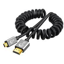 Кабель micro hdmi 20 3d 4k высокоскоростной пружинный кабель
