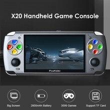 POWKIDDY X20 adultes Mini lecteur de jeu de poche rétro Console de jeu intégré 3599 jeux vidéo lecteur de jeu portable