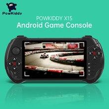 Powkiddy x15 andriod handheld consola de jogos 5.5 polegada 1280*720 tela mtk8163 quad core 2g ram 32g rom vídeo jogador de jogo portátil