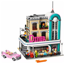 Street Brick Toys Downtown Diner Compatible Legoingly City Architecture 10260 Building Blocks for Kids Christmas Gift