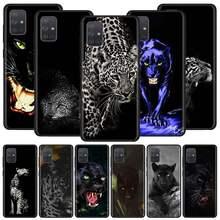 Coque de téléphone portable Cheetah panthère, noire, souple, pour Samsung Galaxy A51, A71, M31, A41, A31, A11, A01, M51, M21, M11, M40