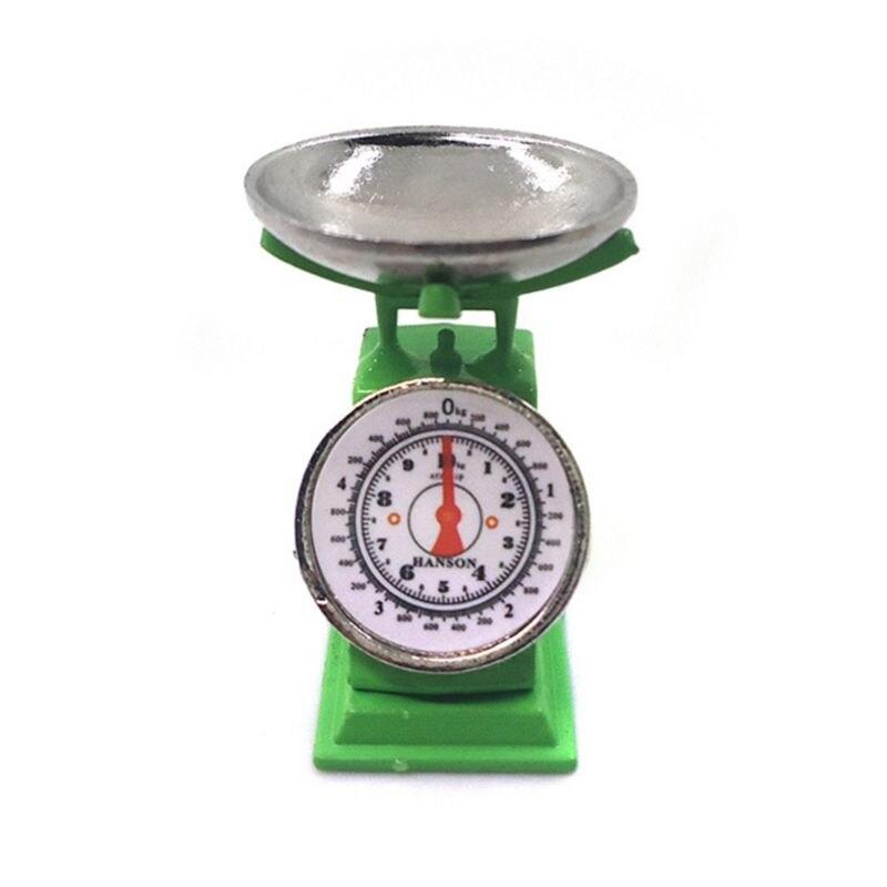 1/12 Mini Dollhouse Miniature Market Stall Weight Pound Scale Kitchen Tool Toy
