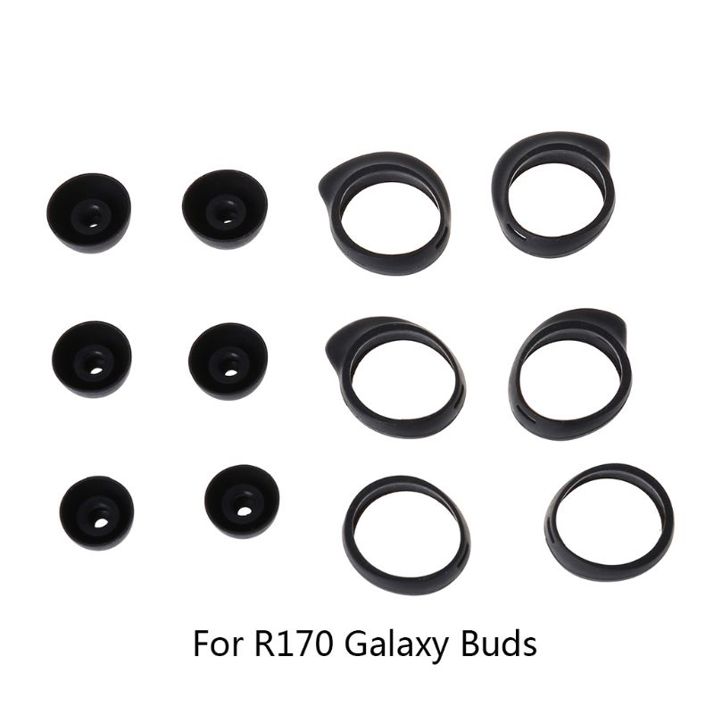 3Pair Silicone Protective Case Cover Shell Protector Kits For Samsung R170 Galaxy Buds Bluetooth Earphones Decorative Accessorie