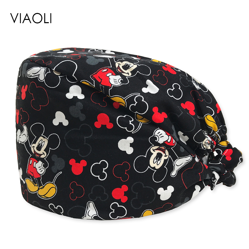 New Printed Cap Hospital Laser Eye Operating Room Hats Doctors Nurses Unisex Medical Surgical Beauty Caps Dentist Pet Scrub Caps