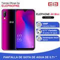 Elephone a6 mini 4 gb 32 gb smartphone android 9.0 5.71 Polegada tela waterdrop mt6761 quad core hd + 16mp 3180mah 4g telefone móvel