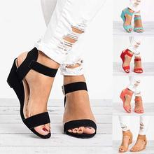 Women Wedges Sandals Casual Buckle Strap Heel Platform Summer Gladiator