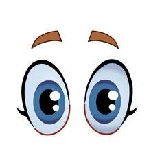 Новые глаза Мультяшные Веселые Глазные яблоки автомобильные
