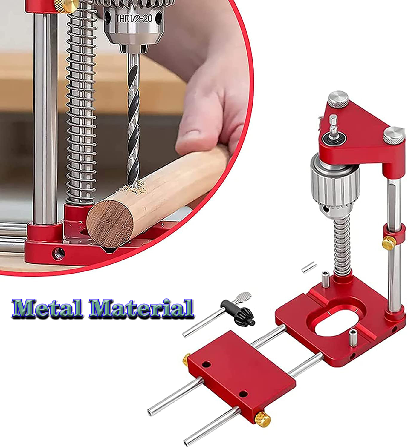 Metal Drill Locator Woodworking Convenient Labor Saving Alloy Steel Drilling Template Guide Tool For Home