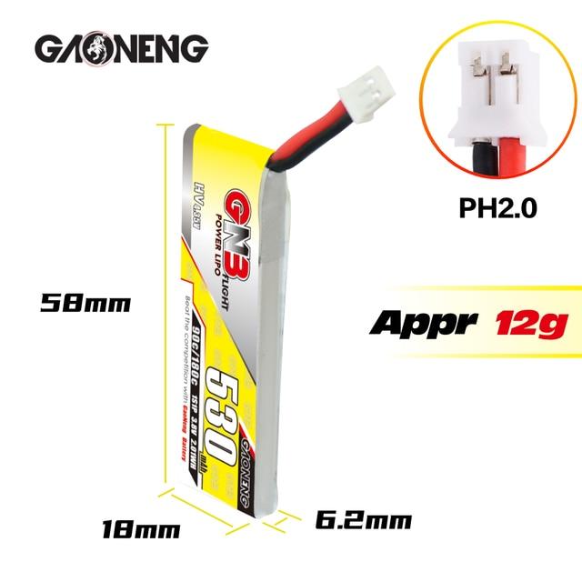Gaoneng GNB 1S HV 530mAh 90C PH2.0 wire