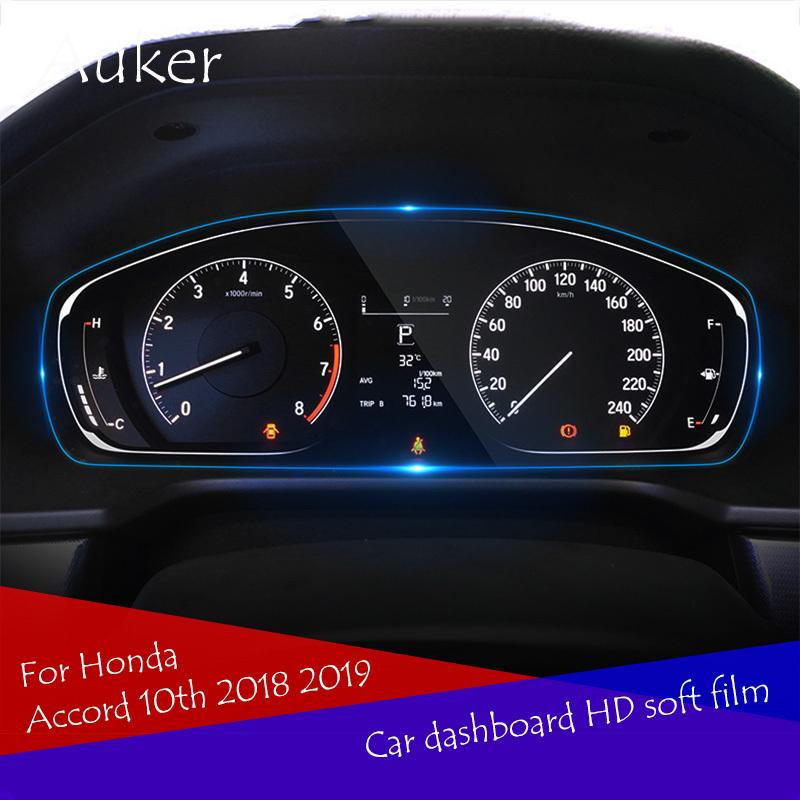 Car  Driving Dashboard Soft HD Screen Protective Film For Honda Accord 10th 2018 2019