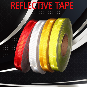 25MMX3M Red White Yellow Micro Prismatic Sheeting Reflective Tape Stickers Bike Reflector Stickers Bicycle Light Reflectors Tape 1