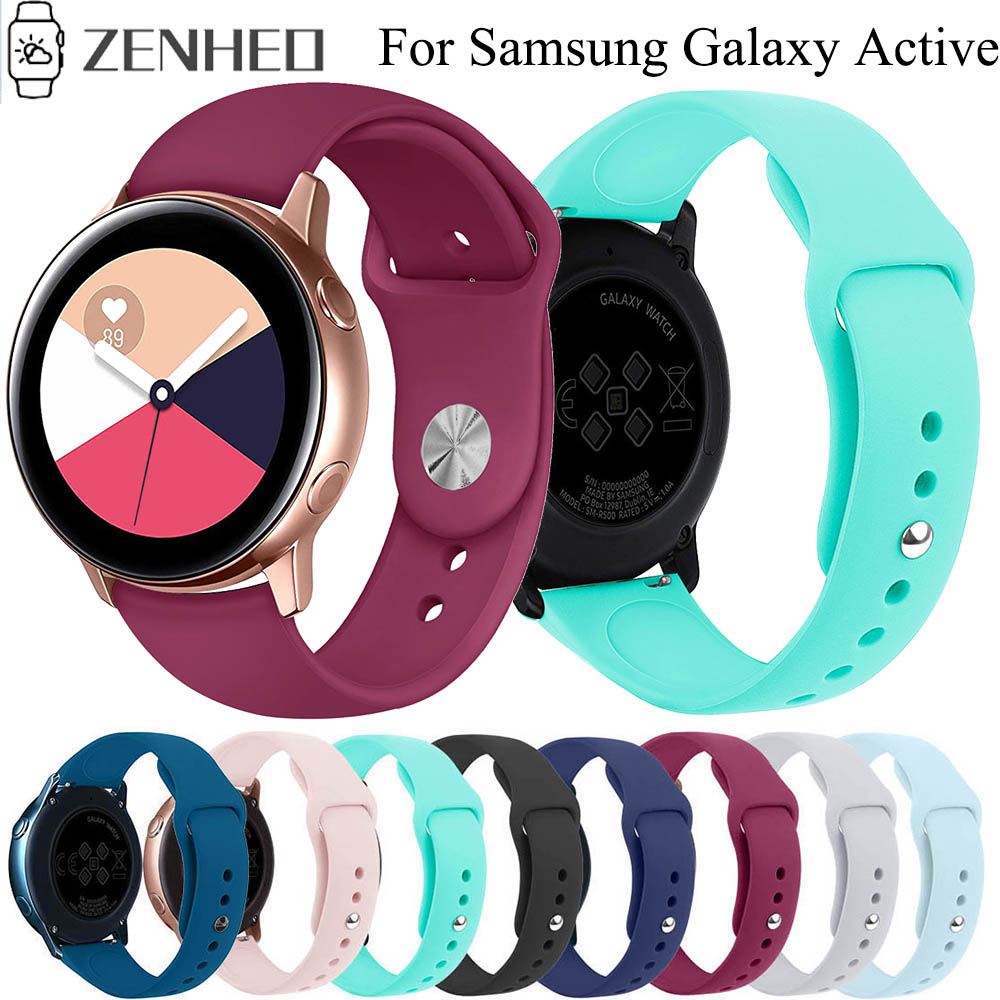 20mm Silicone Band Strap For Samsung Galaxy Watch Active Replacement Watchband For Samsung Gear S2 Sport Classic Wristband