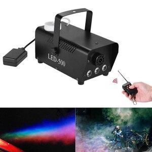Image 2 - RGB туман машина Дым беспроводной пульт дистанционного управления многоцветные вечерние свет этап портативный