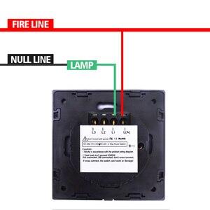 Image 4 - Spedizione Gratuita Standard UE 1 2 3 Gang 1 Way Parete Luce Controler Home Automation Interruttore di Tocco Non Wif A Distanza interruttore sul Pannello In Vetro