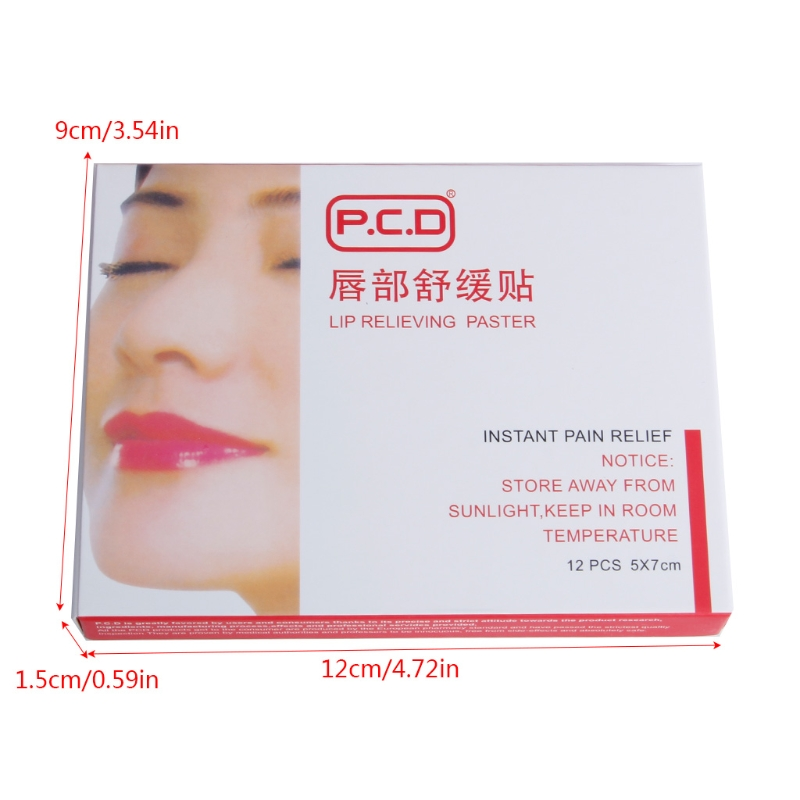Image 4 - 12pcs Lip Anesthetic Paste Mask For Tattoo Permanent Makeup Accessories-in Tattoo accesories from Beauty & Health