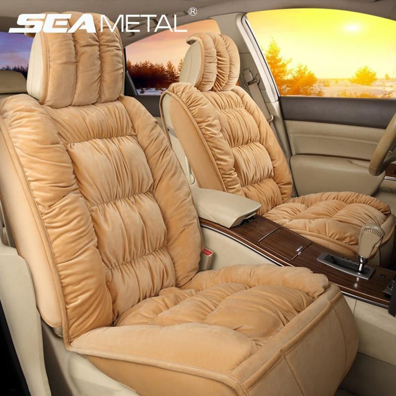 Чехлы на автомобильные сиденья, плюшевые чехлы на сиденья автомобиля, интерьерная теплая подушка на сиденье, зимний защитный чехол, коврики...